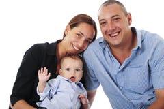 Giovane famiglia nello studio Immagini Stock