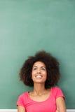 Giovane fantasticare afroamericano della donna Fotografia Stock