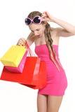 Giovane fashionista da acquistare Fotografie Stock