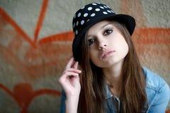 Giovane femmina all'aperto Fotografia Stock Libera da Diritti