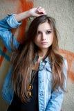 Giovane femmina all'aperto Fotografie Stock Libere da Diritti