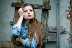 Giovane femmina all'aperto Immagine Stock