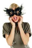 Giovane femmina di grido attraente immagine stock