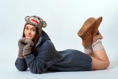 Giovane femmina in maglione Fotografia Stock