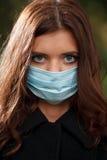 Giovane femmina nella maschera Immagine Stock Libera da Diritti