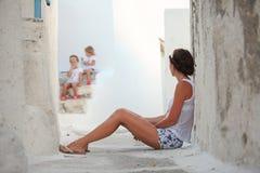 Giovane fondo della madre le sue care figlie in a Fotografia Stock Libera da Diritti