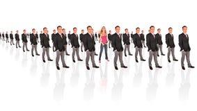 Giovane formazione femminista dell'uomo d'affari e della donna Immagine Stock
