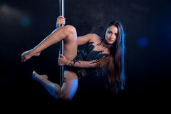 Giovane foto sexy dello studio dell'acqua della donna Immagine Stock Libera da Diritti