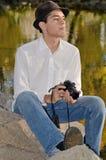 Giovane fotografo ispanico Fotografie Stock Libere da Diritti