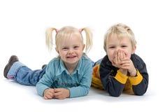 Giovane fratello e sorella Fotografia Stock Libera da Diritti