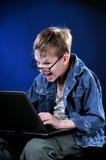 Giovane Gamer pazzo Fotografia Stock
