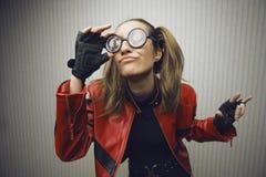 Giovane geek di sguardo divertente Immagini Stock
