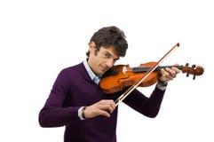 Giovane giocatore del violino fotografia stock libera da diritti