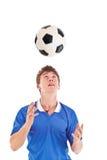 Giovane giocatore di football americano immagine stock