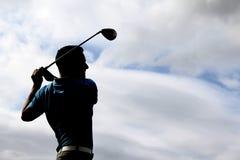 Giovane giocatore di golf Immagini Stock