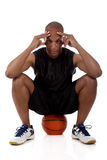 Giovane giocatore di pallacanestro dell'afroamericano Immagine Stock Libera da Diritti
