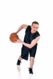 Giovane giocatore di pallacanestro maschio Fotografia Stock Libera da Diritti