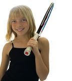 Giovane giocatore di tennis Fotografia Stock