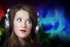 Giovane gioco da essere un deejay professionista Immagine Stock Libera da Diritti