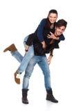 Giovane gioco felice delle coppie Immagine Stock Libera da Diritti