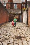 Giovane gioco nero della neonata Fotografia Stock Libera da Diritti