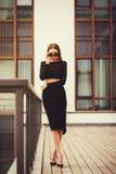 Giovane gonna d'uso della cima del vestito di vestito dalla donna di affari Fotografia Stock