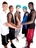 Giovane gruppo fresco di adolescenti dell'anca. Fotografia Stock