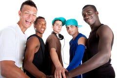 Giovane gruppo fresco di adolescenti dell'anca. Fotografie Stock Libere da Diritti