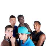 Giovane gruppo fresco di adolescenti dell'anca. Immagine Stock