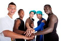 Giovane gruppo fresco di adolescenti dell'anca. Fotografia Stock Libera da Diritti