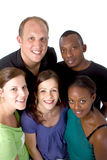 Giovane gruppo multiracial Immagine Stock