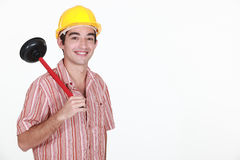 Giovane idraulico immagini stock