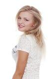 Giovane immagine di riserva europea alla moda dello studente o della donna Fotografie Stock Libere da Diritti