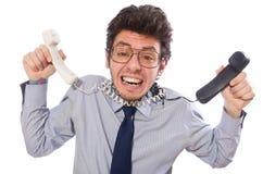 Giovane impiegato della call center Immagine Stock Libera da Diritti