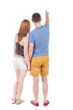 Giovane indicare delle coppie Immagini Stock
