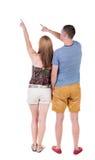 Giovane indicare delle coppie Fotografie Stock Libere da Diritti