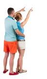 Giovane indicare delle coppie Fotografia Stock