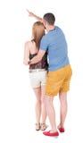 Giovane indicare delle coppie Immagine Stock