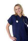 Giovane infermiera amichevole Immagine Stock
