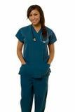Giovane infermiera ispanica Fotografia Stock Libera da Diritti