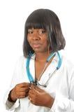 Giovane infermiera o medico dell'afroamericano Fotografia Stock Libera da Diritti
