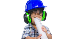Giovane ingegnere del ragazzo Immagini Stock Libere da Diritti