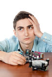 Giovane ingegnere in informatica Immagini Stock