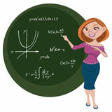 Giovane insegnante illustrazione di stock