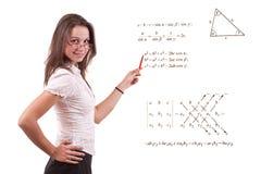 Giovane insegnante per la matematica Immagine Stock