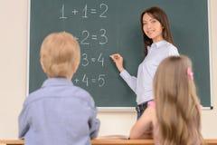 Giovane insegnante sicuro. Fotografia Stock