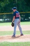 Giovane lanciatore di baseball Fotografia Stock