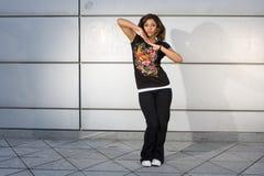 Giovane luppolo dell'anca di dancing dell'adolescente Fotografie Stock