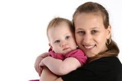 Giovane madre con il bambino sveglio Immagini Stock
