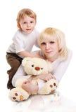 Giovane madre e piccolo figlio Fotografia Stock